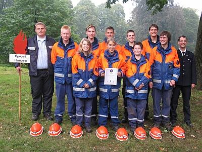 Gruppenfoto - JF Öjendorf 3. Platz beim August-Ernst-Pokal