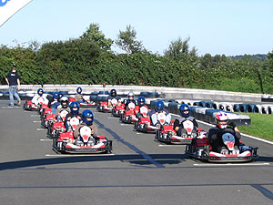 Die Startaufstellung für das Rennen.